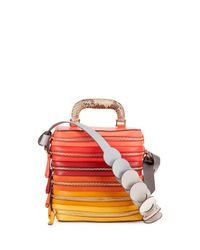 Anya Hindmarch | Pink The Stack Six-zip Top-handle Bag | Lyst