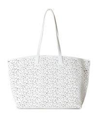 Akris | White Ai Medium Laser-cut Leather Messenger Bag | Lyst