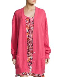 Michael Kors | Pink Oversized Cashmere Cardigan | Lyst