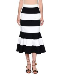 Dolce & Gabbana | Blue Striped Stretch-woven Flare Skirt | Lyst