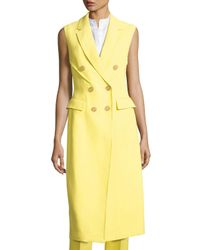 3.1 Phillip Lim Yellow Sleeveless Double-breasted Coat