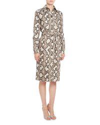 Altuzarra - Natural Cimarron Snake-print Shirtdress - Lyst