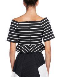 Proenza Schouler   Black Striped Jacquard Off-shoulder Crop Top   Lyst