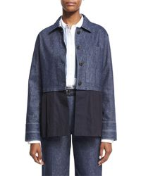 Elizabeth and James   Blue York Chambray Button-front Jacket   Lyst