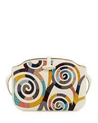 The Row - Multicolor Croissant Crocodile Coil-mosaic Shoulder Bag - Lyst