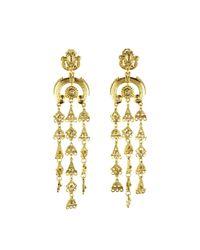 Oscar de la Renta | Metallic Ornate Tiered Drop Earrings | Lyst