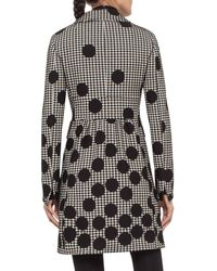 Akris Punto - Black Dotted Houndstooth A-line Coat - Lyst