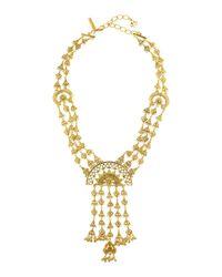 Oscar de la Renta | Metallic Ornate Golden Charm Necklace | Lyst