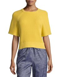 Theory | Yellow Mayalee Prosecco Sweater | Lyst