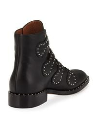 Givenchy - Black Studded Leather Ankle Boots - Lyst