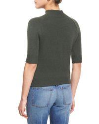Theory   Green Jodi B Cashmere Mock-neck Sweater   Lyst