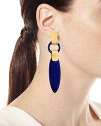 Lisa Eisner Jewelry - Blue Long Lapis Spear Drop Earrings - Lyst