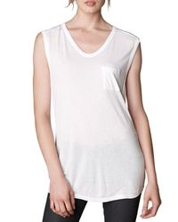 T By Alexander Wang | White V-neck Pocket Tee | Lyst