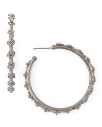 Armenta - Metallic New World Crivelli Diamond Hoop Earrings - Lyst