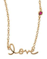 Shy By Sydney Evan | Metallic Love Bezel-ruby Pendant Necklace | Lyst