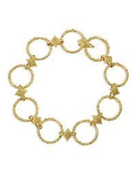 Armenta | 18K Yellow Gold Circle Link & Diamond Bracelet | Lyst