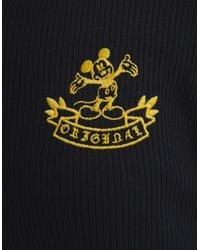 Vestido Rib Bordado Mickey Mouse Bershka de color Black