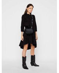 Pieces Black High-low-saum Baumwoll Kleid