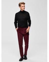 SELECTED Merinowoll Pullover Herren Schwarz in Black für Herren