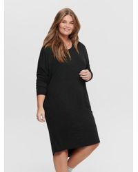 ONLY Black Knielanges Curvy Kleid