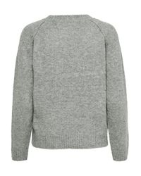 ONLY Gray Solid Color Knitted Pullover