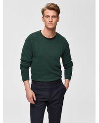 SELECTED Ronde Hals - Sweater Heren Green voor heren