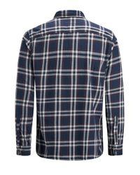 Jack & Jones Een Borstzak Overhemd in het Blue voor heren