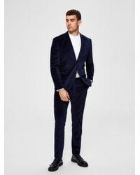 SELECTED Slim Fit Anzughose in Blue für Herren