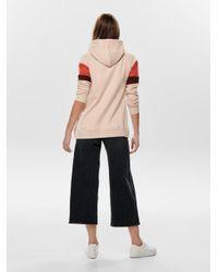 ONLY Pink Kontrastfarbiges Sweatshirt