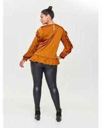 ONLY Black Curvy Kunstleder Leggings
