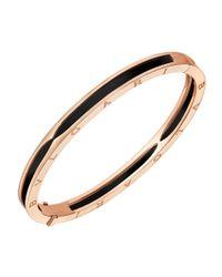 "BVLGARI 18k Pink Gold & Black Ceramic ""bzero1"" Bracelet"
