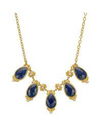 "Gurhan - 22k Yellow Gold & Sapphire ""elements"" Necklace - Lyst"