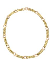 Gucci 18k Yellow & Rose Gold Curb-link Chain Necklace