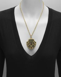 "Gurhan 22k Yellow Gold & Bronze ""byzantine"" Shield Pendant"