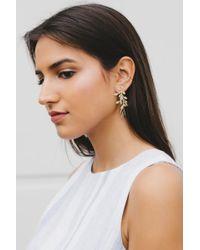 Sheila Fajl - Metallic Branch Earrings - Lyst