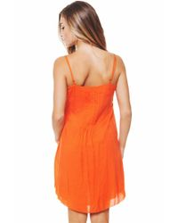 Sanctuary - Orange Ivy Embroider Dress - Lyst
