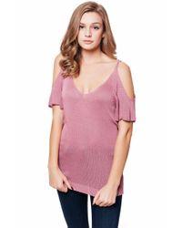 Julie Billiart - Pink Cold Shoulder Sweater Tee - Lyst