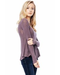 Free People - Purple Super Scoop Top - Lyst