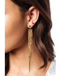 bevello - Multicolor Snake Chain Drop Earring - Lyst