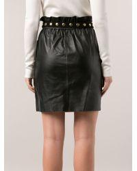 Adam Lippes Black Paper Bag Skirt