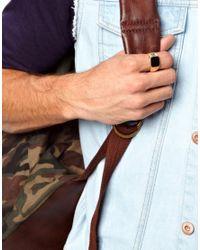 ASOS | Metallic Signet Ring for Men | Lyst