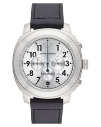 Emporio Armani - Metallic Chronograph Watch for Men - Lyst