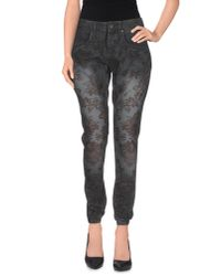 Eco - Gray Casual Trouser - Lyst