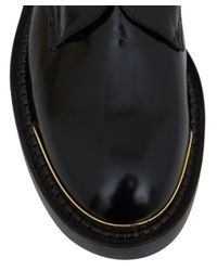 Marni Black Silviano Conti Leather Derby Shoes