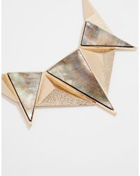 SELECTED - Metallic Courtney Chunky Bib Necklace - Lyst