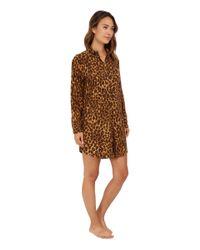 Lauren by Ralph Lauren - Multicolor Flannel Sleepshirt - Lyst