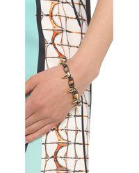 Joomi Lim - Metallic Metamorphosis Double Row Bracelet with Spheres Spikes Rutheniumgoldrhodium - Lyst