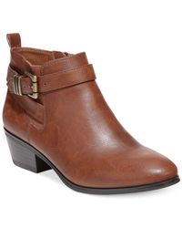 Style & Co. | Brown Style&co. Huckk Casual Booties | Lyst