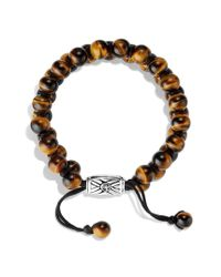 David Yurman - Brown Spiritual Beads Tworow Bracelet with Tigers Eye for Men - Lyst