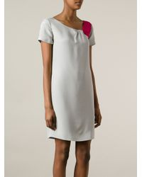 Emporio Armani Gray Bi-Colour Dress